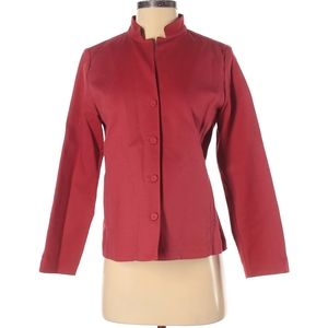 Eileen Fisher Red Blazer Petite Small PS